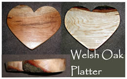 Heart shaped wooden platter